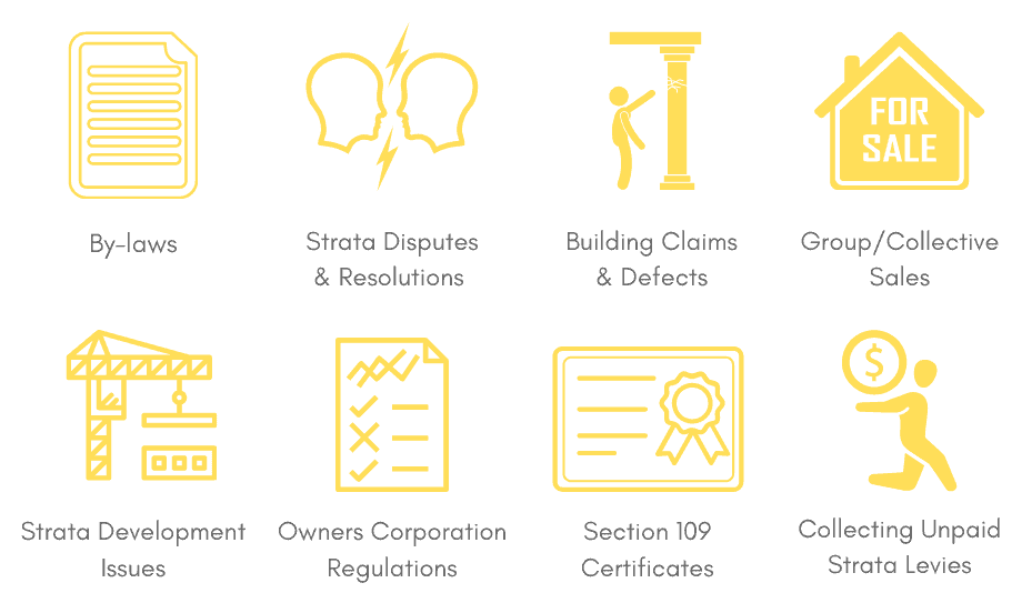 areas of strata law we can help